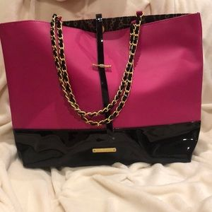 Juicy Couture Tote pink/ black
